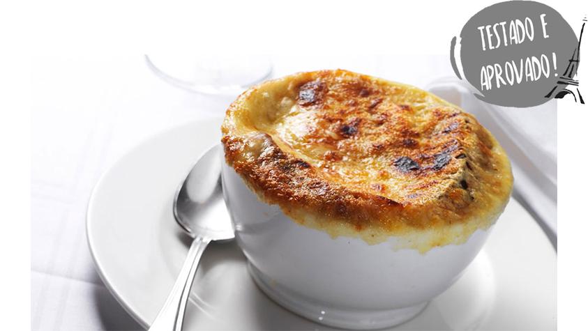 pratos típicos franceses sopa de cebola